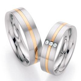 Ringen Staal Goud en Briljant CR-SG8