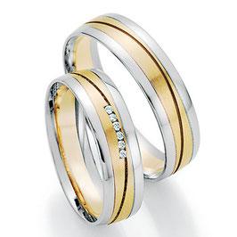 Ringen Bicolor goud en Briljant CR-HPB2