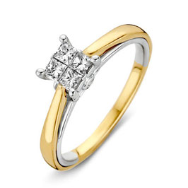 Ring bicolor goud met briljant VS416462
