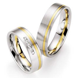 Ringen Bicolor goud en Briljant CR-HSC4
