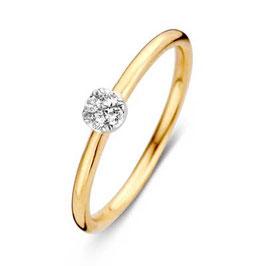 Ring geelgoud met briljant VS416517