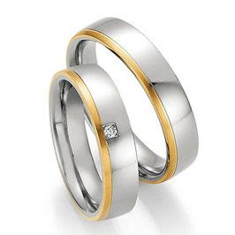 Ringen Staal Goud en Briljant CR-SG7