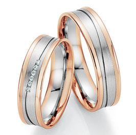 Ringen Bicolor goud en Briljant CR-HPB9