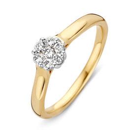Ring bicolor goud met briljant VS415590