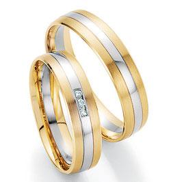 Ringen Bicolor goud en Briljant CR-HPB6