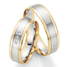Ringen Bicolor goud en Briljant CR-HPB8