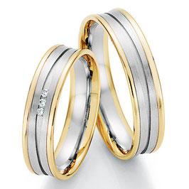 Ringen Bicolor goud en Briljant CR-HPB4