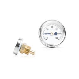 Bimetall Einschraubthermometer mit Messingtauchhülse