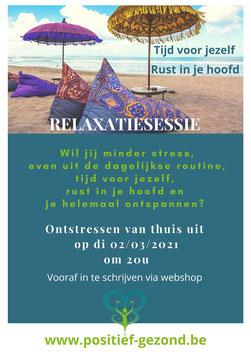 Relaxatiesessie 02/03/21