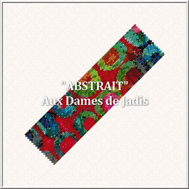 """Abstrait"" Pattern Manchette Peyote"