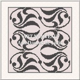 """Art Nouveau"" Pattern Tapis Peyote"