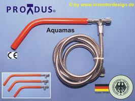 PREMIUM Männer-Gesäßhandbrause + Einhandgesäßhandbrause- Aquamas mit Wasserstrahl-Enddarmeinlauffunktion (Anorektale Hydrotherapie). Für Zuhause + Urlaub/Hotel/Ferienwohnung.