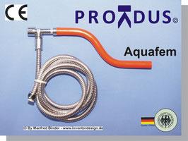 PREMIUM Bidet-/Gesäßhandbrause Aquafem für Gesäß- und Vaginalabduschung, mit Wasserstrahlklistierfunktion (Anorektale Hydrotherapie). Für Zuhause und Urlaub/Hotel.