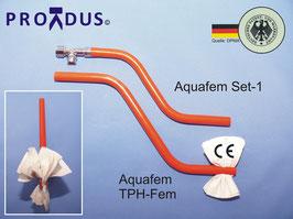 PREMIUM Set-1,  Aquafem Analabdusch-Handbrause mit Wasserstrahlklistier (Anorektale Hydrotherapie) und Toilettenpapierhalter zum trocken tupfen (nicht reiben!)  Für Haus/Urlaub/Hotel