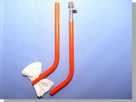 Set-2, Aquamas Analabdusch-Handbrause mit Wasserstrahlklistier (Anorektale Hydrotherapie) und Toilettenpapierhalter zum trocken tupfen (nicht reiben!) Für Zuhause und Urlaubshotel.
