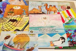 Tiergedichte Postkarten | Einzeln oder als 11er-SET | 11 Motive