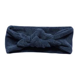 NIEUW - Haarband strik badstof blauw