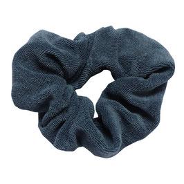 Scrunchie badstof blauw