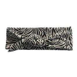 Haarband strik tijger zand
