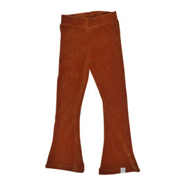 Flared pants brede rib roest