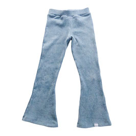 Flared pants brede rib lichtblauw