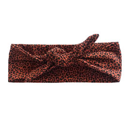 Haarband strik leopard roest