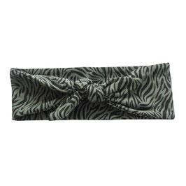 Haarband strik tijger khaki