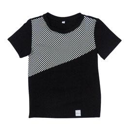 Shirt korte mouw 2-vlaks zwart-blok