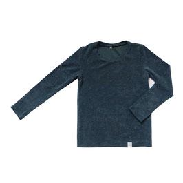NIEUW - Shirt badstof blauw lange mouw