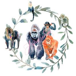 couronne de singes.