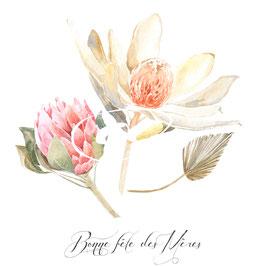 Bonne fête des Mères / Happy mother's Day en français ou en anglais préciser à la commande , merci