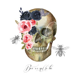 crâne fleurs et abeilles... Bee or not to be