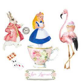 Carte Alice, joyeux anniversaire