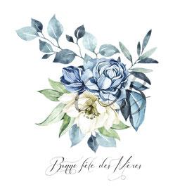 Fête des Mères bouquet bleu