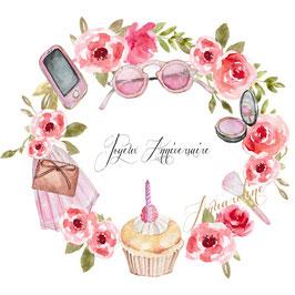 Joyeu anniversaire carte fashion
