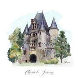 Carte porte du château de Javarzay