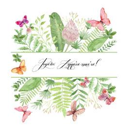 Carte papillon joyeux Anniversaire