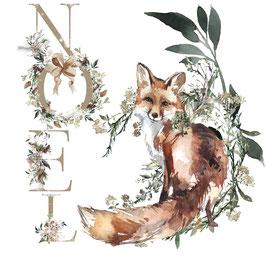 carte de Noël renard