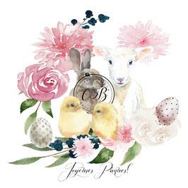 Carte Joyeuses Pâques Agneau