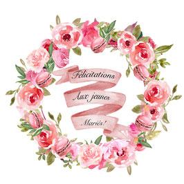 Félicitations au jeunes mariés