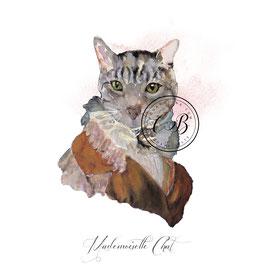 Nouvelle collection cartes de Mademoiselles,  et Messieurs chats en tenue élégantes