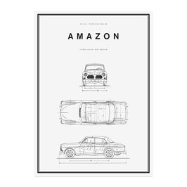 Amazon Line Drawing Poster