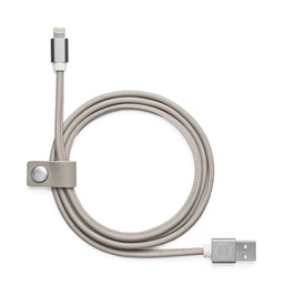 Leather Charger Cable Apple, Blond