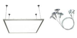 Montagematerial für LED Panel zur abgehängten Installation