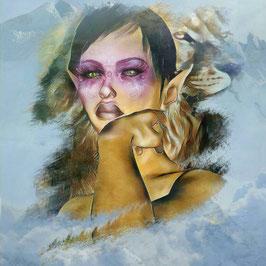 Zauberhafte Welten - ELFE 4 -Magische Wesen - Kunstdruck -Hochwertiger Kunstdruck auf Leinwand Magie
