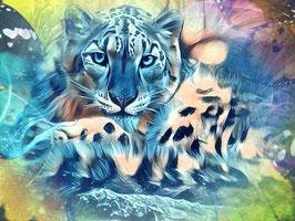 Leopard - KARISMA 3 - Leopard Kunstdruck -Hochwertiger Kunstdruck auf Leinwand  Animal Print