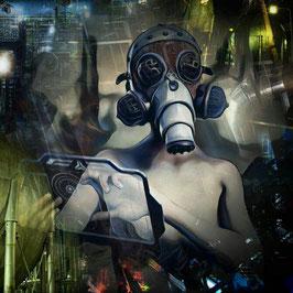 Steampunk - CYBERPUNK 1 -  Kunstdruck -Hochwertiger Kunstdruck auf Leinwand Cyberpunk