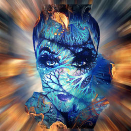 Figurative Kunst - FACE 3 -  FACES -Hochwertiger Kunstdruck auf Leinwand Gesicht