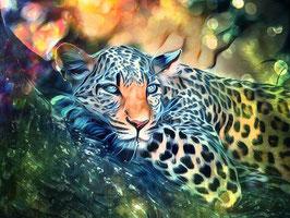 Leopard - KARISMA 1- Leopard Kunstdruck -Hochwertiger Kunstdruck auf Leinwand  Animal Print