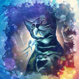 KITTY CAT 7 - Katzen Kunstdruck -Hochwertiger Kunstdruck auf Leinwand  Animal Print